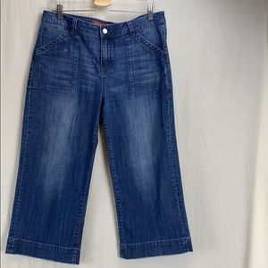 Standards & Practices denim crop pants w/porkchop